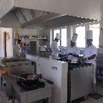The Chefs working hard at the Waterside Restaurant, Bentota