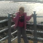 Posing on the jetty