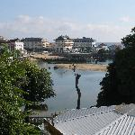 View of the beach and town from the terrace bar