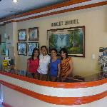 The friendly staff and my fiancee
