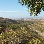  Looking back at San Mateo Campground &amp; Camp Pendleton from the trail to Trestles