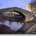 The 12th Century Roman Bridge just a block from L'Atelier du Soulondre in Lodeve, France.