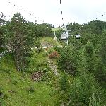 Chairlift and Alpine track view 1