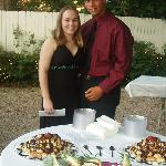 My fiance and myself at friend's wedding reception