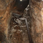 Ireland: co. Galway - Glengowla Mines: one of the Mine Shafts
