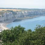 France/Fecamp/Normandie/Hotel La Ferme - the cliffs from Fecamp