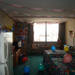 The room decorated
