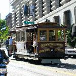 Cable Car outside hotel entrance