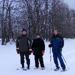 Enjoying some snow shoeing