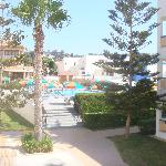  The view to the pool area
