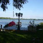  The lake and dock - view from the garden