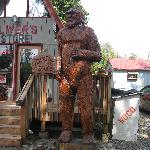 Big Foot in front of Office/Store