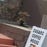 Entrance into Sugars Coffee House