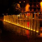Montlucon town centre fountains