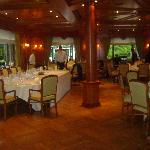 The Main Restaurant/Breakfast room set up for the wedding