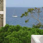 sea and 10 story building view from room terrace