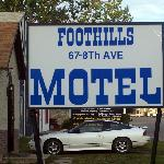 Foothills Motel Entrance Sign