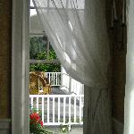  A view onto the front porch