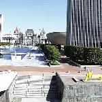 Empire State Plaza with its central pool and fountains