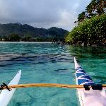 A quiet paddle around motu Taakoka