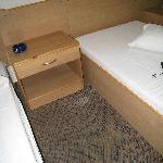 White substance on bed and carpet
