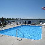 Pool with views of the harbor