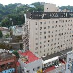 View of Hotel New Yokosuka from our room at the annex.