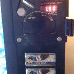 Soda machine ($1.50 for a 20oz soda)
