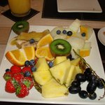 fruit platter very refreshing
