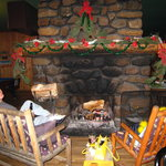 That fireplace in Montana Hannas