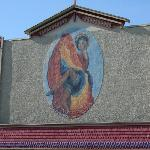  The mural on the hotel