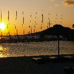 Sunset view of yachts