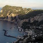  View of Capri from the grounds of St Michele