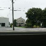 View of Amish business across from cottage.