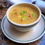 Excellent crawfish and corn soup...just not enough of it.