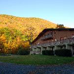 Catskills Season Inn with colors of fall