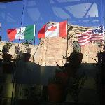 flying flags of guests