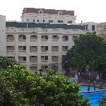  Army Hotel court yard and pool