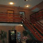 Stairs From Lobby to Room 221 at Top