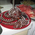  Octopus chocolate cake
