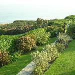 View from our room over the garden to the sea.