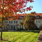 Schlosshotel Dresden-Pillnitz enjoying colorful Fall regalia.