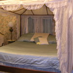  King size bed in one of the rooms