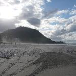 """""""The Mount"""" from the beach"""