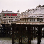 A pastel vision of the West Pier shortly after it was closed to the Public