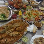 nice variety of lebanese food!