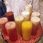 the fresh juices!