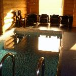 the indoor pool (sauna nearby)