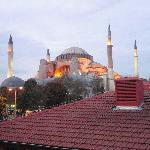 view from terrace of hagia sofia