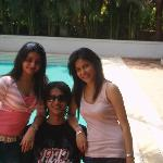 ankita me juhi near pool